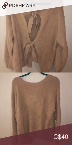 Mendocino sweater with cute back Fuzzy and super soft. Honestly such a good deal. I have never worn it. Bought it at Mendocino HYFVE Sweaters Crew & Scoop Necks Cute Cardigans, Sweaters For Women, Cute Summer Tops, Plus Fashion, Fashion Tips, Fashion Trends, Cropped Hoodie, Zip Ups, Your Style