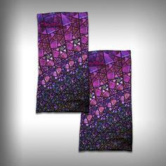 Neck Gaiter / Face Shield - Purple Stainglass