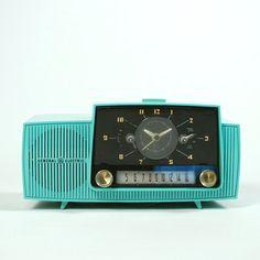 Vintage Clock Radio Teal