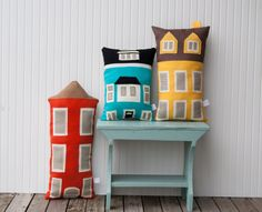Decorative Pillow / House Pillow / Children's Room / by yoursolivehttp://www.etsy.com