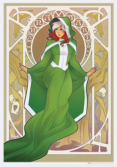 Rogue: | Marvel Heroines In Art Nouveau Gowns Never Looked So Stylish
