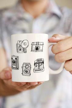 Vintage Camera Set Mug. For more photographer gift ideas visit http://leimomi.com.au/
