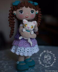 Muneca Alexa / Alexa Doll - Free Crochet / Amigurumi Doll Pattern - Page 2 of 31 - Free Crochet Patterns Gilet Crochet, Crochet Bear, Cute Crochet, Crochet For Kids, Crochet Toys, Knitting Toys, Free Knitting, Crochet Cardigan, Crochet Dolls Free Patterns
