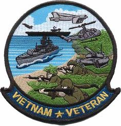 Vietnam War Veteran Patch from Military Uniform Supply... Pretty sure it's one of the coolest looking patches! So much detail for a patch :)