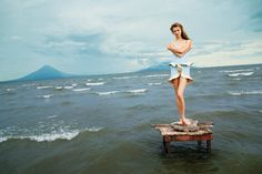 Karlie Kloss Takes to Nicaragua for T Magazines winter 2012 cover shoot by Ryan McGinley.