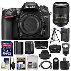 Kit includes:♦ 1) Nikon D7200 Wi-Fi Digital SLR Camera Body♦ 2) Nikon 18-300mm f/3.5-6.3G VR DX ED AF-S Nikkor-Zoom Lens♦ 3) Nikon Deluxe Digital SLR Camera Case♦ 4) Transcend 64GB SDXC 300x U...