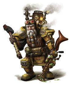 Steampunk dwarf by Mike-Sass on DeviantArt