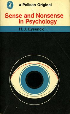 Pelican Original, Book cover, Sense and Nonsense in Psychology