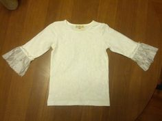 A Lucky Ladybug: Taylor Joelle White Lace Shirt w/ Ruffles Review and Giveaway