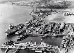 When we had a large fleet! Devonport with 5+ aircraft carriers alongside.