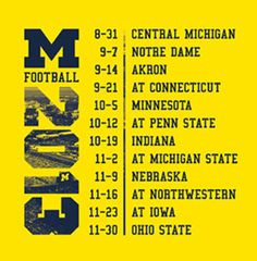 2013 University of Michigan Football Schedule