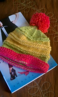 Round Round Baby Hat by Amy Valentino.free pattern ~ could be re-sized for a small child. check my tutorials board for hat sizing. for Luca? Baby Knitting Patterns, Baby Hat Patterns, Baby Hats Knitting, Knitting For Kids, Loom Knitting, Yarn Projects, Knitting Projects, Knit Or Crochet, Crochet Hats