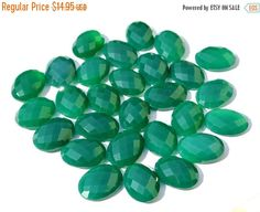 55% OFF SALE 20x15mm AAA Genuine Green by GemsAndBeadsEmporium