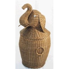 Rattan Elephant Hamper - I had one as a kid that my mom bought in Gatlinburg, TN. It was hot pink.  So, for a boys room or a girls.  A bit of whimsy to entice picking up the clothes