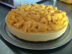 Cheesecake frio de mango