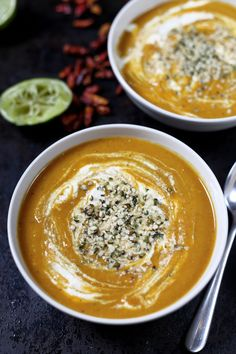 Sweet Potato Soup with Tomato and Lentil