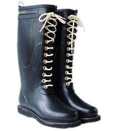 http://www.splendidavenue.com - Image of Ilse Jacobsen Rubber Boots - Tall, Black $199