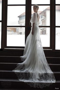 Are you looking for a chic bridal look for your wedding dress? Maybe a cape wedding dress is what you're looking for. Most Beautiful Wedding Dresses, 2016 Wedding Dresses, White Wedding Dresses, Wedding Attire, Bridal Dresses, Wedding Gowns, Wedding White, Backless Wedding, Ethereal Wedding Dress