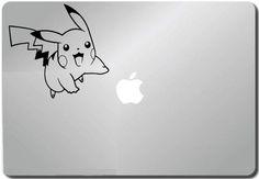 6594a55e974 Flying Pikachu Pokemon Computer Skin Apple Sticker Laptop Sticker Macbook  Decal Computer Sticker Macbook 13 Inch Vinyl Decal Sticker Skin Cover  Computer ...