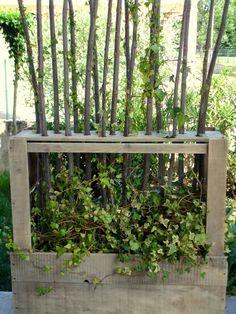 Trend Paravent V g tal En Bois De Palettes Upcycled Wooden Pallet Vegetal Fence