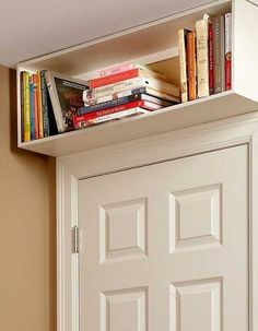 doorway shelf tiny bedroom hack