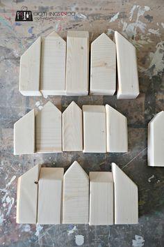 scrap wood decor, scrap wood project, scrap wood houses, wood houses, mini houses