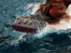 Sinking ship diorama - Imgur