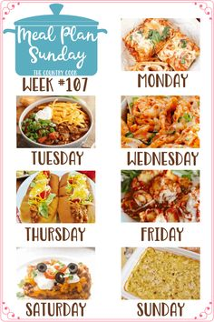Meal Plan recipes: Easy Lasagna Rolls, Chicken Parmesan Casserole, Taco Sloppy Joes, Crock Pot Ravioli, Burrito Bake and Chicken and Dumplings Casserole mealplan dinner 323414816989236667 Easy Baked Ziti, Easy Healthy Dinners, Easy Dinner Recipes, Crockpot Ravioli, Sloppy Joes Recipe, Family Fresh Meals, Country Cooking, Dinner Menu, Meals For The Week