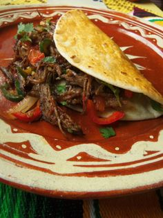 """Beef Machaca - """"..homecook's version of machaca with my favorite spices and a little added red wine for a rich finish"""" / Hispanic Kitchen"""