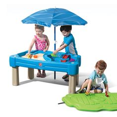 Cascading Cove Sand & Water Table with Umbrella Kids Sand & Water Play Table with Umbrella Accessory Set Included, Green Toddler Water Table, Water Play For Kids, Kids Sand, Water Table For Kids, Best Water Table, Sand And Water Table, Outdoor Toys For Toddlers, Best Outdoor Toys, Outdoor Play