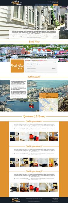 Website for apartment hotel in Norway by xowu