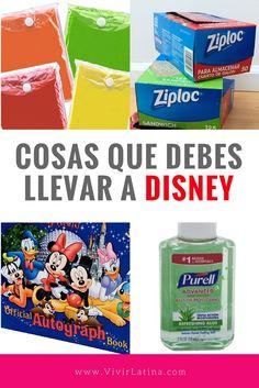Cosas que debes llevar a Disney. Asegurate de tener esto en tu maleta ;)