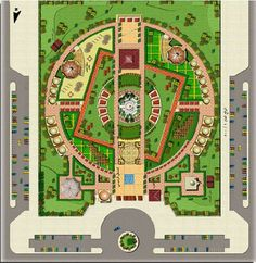 Site planning and landscape - Architektur Plan Concept Architecture, Plans Architecture, Landscape Architecture Drawing, Landscape Design Plans, Garden Design Plans, Landscape Concept, Urban Landscape, The Plan, How To Plan