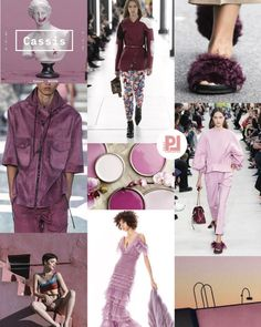 Colour trend for 2020 by Coloro Wanda Naumann CASSIS. The natural evolution from the hugely popular lavender tones that were popping up Spring Fashion Trends, Summer Fashion Trends, Latest Fashion Trends, Autumn Fashion, Spring Summer Trends, Fashion 2020, Look Fashion, Winter Typ, Trend Council