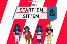 Start 'Em & Sit 'Em for Week 4 Ems, Content, People, People Illustration, Folk