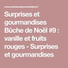 Surprises et gourmandises Bûche de Noël #9 : vanille et fruits rouges - Surprises et gourmandises