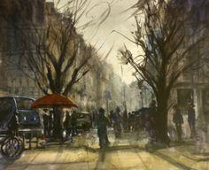 Paris Afternoon. Watercolor, Painting, Art, Gouache Art, Gouache