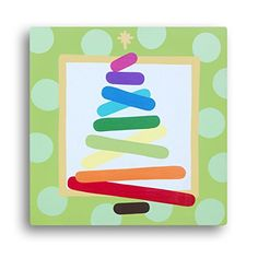 ROYGBIV Christmas Tree: Colorful Canvas Holiday Art, Whimsical Decor, Rainbow Tree, Christmas for Kids! Whimsy. $30 and FREE SHIPPING!!!