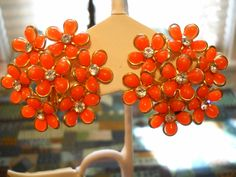 Hey, I found this really awesome Etsy listing at https://www.etsy.com/listing/203588015/large-vintage-earrings-orange-plastic