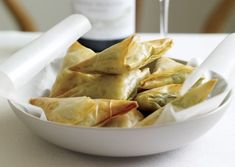 Collard Green Phyllo Triangles Recipe from Vegetarian Times