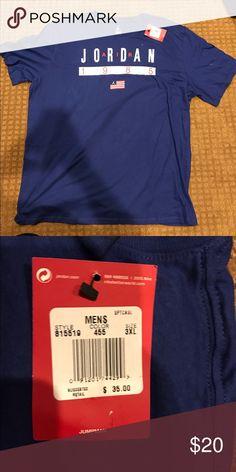 44f4d4839ec Blue Jordan jump man T-shirt New with tags open to offers Jordan Shirts  Tees - Short Sleeve
