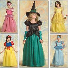 SNOW WHITE PRINCESS Halloween Costume Pattern - Girls Witch Princesses Costumes