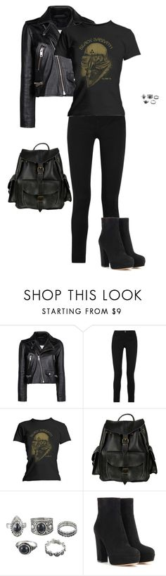 """Black Jeans"" by gone-girl ❤ liked on Polyvore featuring MANGO, M.i.h Jeans, VIPARO and Gianvito Rossi"