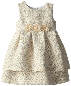 Pippa & Julie Little Girls' Brocade Party Dress, Gold, Pippa & Julie sew this in yellow heart toupe cloth Little Dresses, Little Girl Dresses, Cute Dresses, Girls Dresses, Toddler Dress, Baby Dress, Toddler Girl, Little Girl Fashion, Kids Fashion