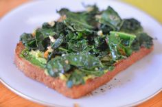 Luci's Morsels: Roasted Avocado + Garlicky Kale Egg Toast #eatcleanpinparty