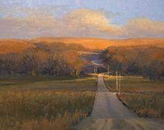 """Taking the Back Road"" by Kim Casebeer, Kansas artist - original oil painting"