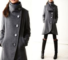crystal buttoned quilted cashmere coat