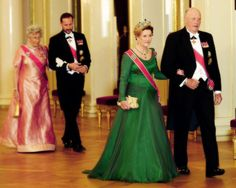 The Norwegian Royal Family hosted a Gala Dinner for the Parliament. October 24