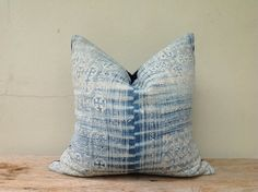 "Vintage Homespun Hemp Batik Hand Woven Pillow Case 20"" x 20""  Pieces Of Tribal Costume on Etsy, $60.00"