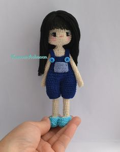Amigurumi crochet girl doll OOAK doll by KanoonAobaoon on Etsy